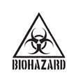 grunge biohazard symbol vector image