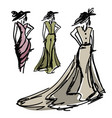 hand-drawn fashion design vector image