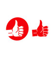 hand thumb up logo best quality symbol or icon vector image vector image