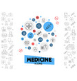 healthcare line icons composition vector image