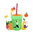 healthy smoothie drink vector image vector image