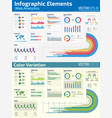 infographic elements web analytics design vector image vector image