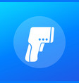 infrared thermometer gun icon vector image vector image