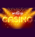 jackpot casino win lettering stage vector image vector image