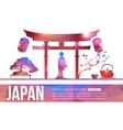Japan travel background with place for text vector image vector image