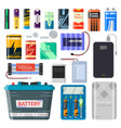 lithium batteries set vector image vector image