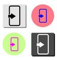 login flat icon vector image vector image