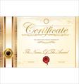Luxury certificate template vector image vector image