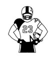 man team player american football with uniform vector image vector image