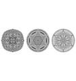 mandala oriental ornaments vector image