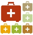 Medical First aid box sign vector image vector image