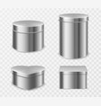 metal tin boxes for tea candies or coffee vector image