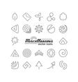 miscellaneous symbols vector image vector image