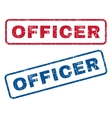 Officer Rubber Stamps vector image vector image