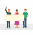 people at election meeting concept background vector image