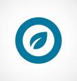 plant bold blue border circle icon vector image vector image