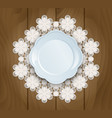 plate on a lace vector image vector image