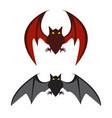 red bat and black bat vector image