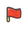 red flag simple icon cartoon vector image vector image