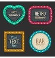 Retro light frames vector image vector image