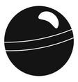 rhythmic gymnastics ball icon simple style vector image vector image