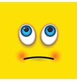 rolling eyes square emoji vector image vector image