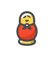 russian nesting doll icon cartoon vector image