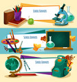 school supplies and stationery banners templates vector image vector image