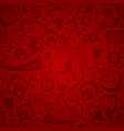 seamless red soccer background vector image vector image