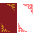 set chinese corner in linear style art vector image vector image