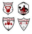 set fitness labels vector image vector image