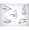 set of line colorful arrows templates vector image vector image
