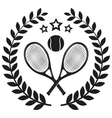 Set Of Tennis Badge Logo Templates T-Shirt Graphi vector image vector image