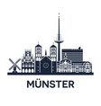 skyline emblem munster city in north rhine vector image vector image