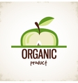 sliced apple icon organic product vector image vector image