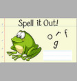 spell english word frog vector image