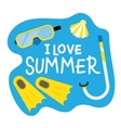 Summer Diving poster vector image