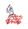 t shirt design swing with pride with baseball vector image vector image