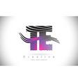 te t e zebra texture letter logo design with vector image