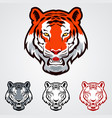 tiger icons vector image vector image