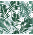 tropical jungle seamless pattern with palm leaves vector image vector image