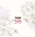 Vintage Pink Brown Frame Floral Drawing vector image