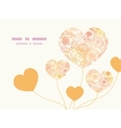 warm flowers heart symbol frame pattern vector image
