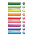 web und print buttons vector image