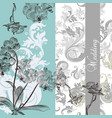 wedding background with orchids vector image vector image