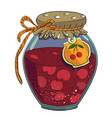 cartoon image of cherry jam vector image