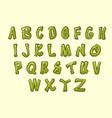 cartoon cactus font vector image