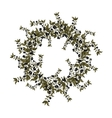 Black olives wreath on white background vector image