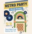 60s and 70s retro music party flyer template ad
