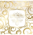 Abstract gold holiday background vector image vector image